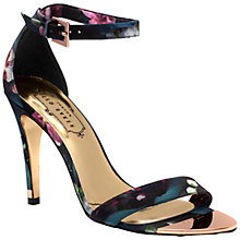 Buy Ted Baker Caitte Barely There High Heel Sandals, Fuchsia Print Online at johnlewis.com