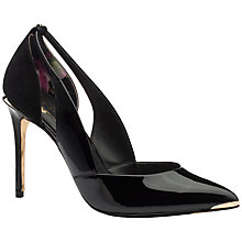 Buy Ted Baker Jiena Patent Leather Cut Out Court Shoes, Black Online at johnlewis.com