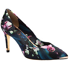 Buy Ted Baker Charmesa 2 Satin Pointed Court Shoes, Fuchsia Print Online at johnlewis.com
