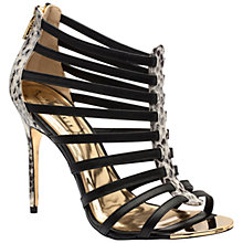 Buy Ted Baker Jickai Leather Gladiator High Heel Sandals, Black Online at johnlewis.com