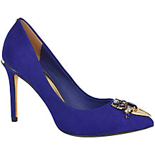 Buy Ted Baker Adawle Suede Bejewelled Court Shoes, Blue Online at johnlewis.com