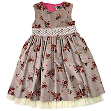 Buy Question Everything Girls' Kate Velvet Floral Dress, Pink Online at johnlewis.com