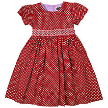 Buy Question Everything Girls' Spot Cord Dress, Red Online at johnlewis.com