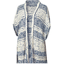 Buy Fat Face Summercombe Knit Kimono, Navy Online at johnlewis.com