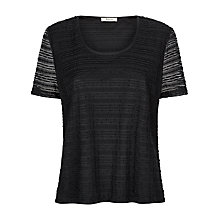 Buy Precis Petite Marni Lace Top, Black Online at johnlewis.com