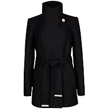 Buy Ted Baker Paria Short Wrap Coat, Black Online at johnlewis.com