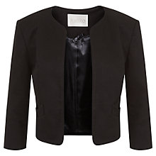 Buy Kaliko Bow Pocket Pique Jacket, Black Online at johnlewis.com