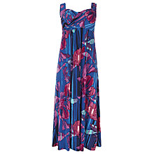 Buy Windsmoor Large Flower Maxi Dress, Bright Blue Online at johnlewis.com
