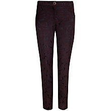 Buy Ted Baker Guent Floral Jacquard Trousers, Deep Purple Online at johnlewis.com