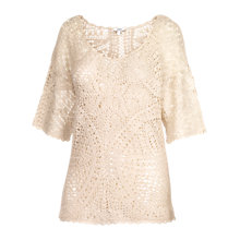 Buy Fat Face Somerset Swing Top, Ivory Online at johnlewis.com