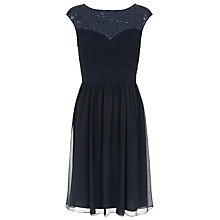 Buy Kaliko Sequin Trim Dress, Navy Online at johnlewis.com