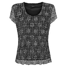 Buy Precis Petite Printed Bubble Lace Top, Multi Black Online at johnlewis.com