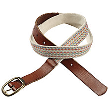 Buy Fat Face Woven Jute Belt, Tan Online at johnlewis.com