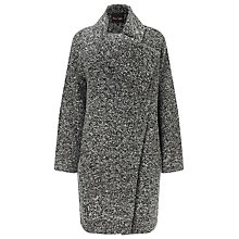 Buy Phase Eight Elena Textured Coat, Salt N Pepper Online at johnlewis.com