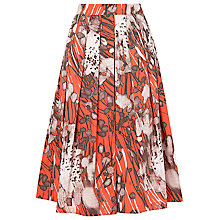 Buy L.K. Bennett Cortona Printed Skirt, Satsuma Online at johnlewis.com