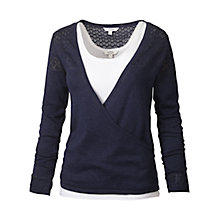 Buy Fat Face Opal Wrap Over Cardigan, Ivory Online at johnlewis.com