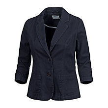Buy Fat Face Washed Blazer, Navy Online at johnlewis.com