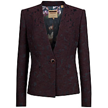 Buy Ted Baker Guen Floral Jacquard Jacket, Deep Purple Online at johnlewis.com