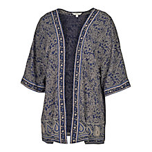 Buy Fat Face Langshaw Woodblock Kimono, Navy Online at johnlewis.com