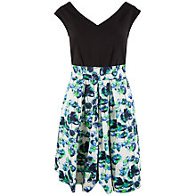 Buy Almari Floral V-Neck Skater Dress, Multi Online at johnlewis.com