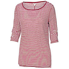 Buy Fat Face Linen Stripe Top, Vintage Taupe Online at johnlewis.com