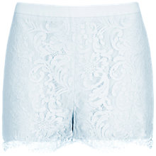 Buy Ted Baker Lace Detail Shorts, Light Blue Online at johnlewis.com