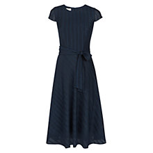 Buy Hobbs Squares Jacquard Dress, Navy Online at johnlewis.com