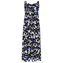 Buy Windsmoor Flower Print Maxi Dress, Bright Blue Online at johnlewis.com