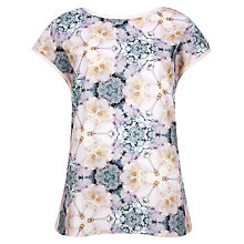 Buy Ted Baker Floral Geometric Print T-Shirt, Pale Pink Online at johnlewis.com