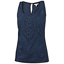 Buy Fat Face Holworth Crochet Vest, Navy Online at johnlewis.com