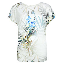 Buy Ted Baker Twilight Floral T-Shirt, Natural Online at johnlewis.com