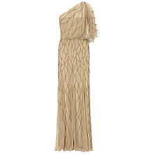 Buy Adrianna Papell Wedding One-Shoulder Beaded Gown, Nude Online at johnlewis.com