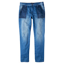 Buy Violeta by Mango Chino-Fit Minerva Jeans, Open Blue Online at johnlewis.com