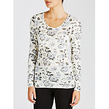 Buy John Lewis Long Sleeve Heat Generating Thermal Top, Floral Print Online at johnlewis.com