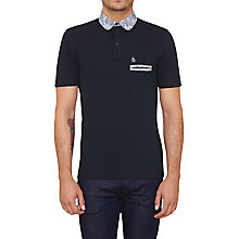 Buy Original Penguin Print Exc Polo Top, Dark Sapphire Online at johnlewis.com