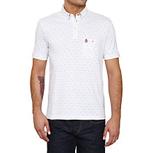 Buy Original Penguin Turkic Jacquard Polo Shirt, Bright White Online at johnlewis.com