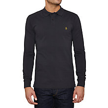Buy Original Penguin Daddy-O Slim Long Sleeve Polo Shirt, Phantom Online at johnlewis.com