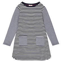 Buy Jigsaw Junior Stripe Jersey Dress, Navy Online at johnlewis.com