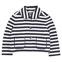 Buy Jigsaw Junior Girls' Nautical Jacket, Navy Online at johnlewis.com