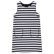 Buy Jigsaw Junior Girls' Nautical Style Dress, Navy Online at johnlewis.com