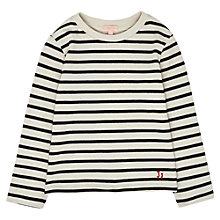Buy Jigsaw Junior Girls' Nautical Jumper, White/Navy Online at johnlewis.com