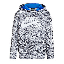 Buy Nike SB Boys' Therma Fit Digi Camo Hoodie, Black Online at johnlewis.com