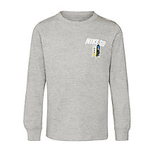 Buy Nike SB Boys' City Life Long Sleeve T-Shirt, Grey Online at johnlewis.com