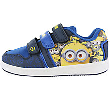 Buy John Lewis Despicable Me Disturbance Casual Trainers, Blue/Yellow Online at johnlewis.com