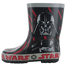 Buy Star Wars Wellington Boots, Black/Red Online at johnlewis.com