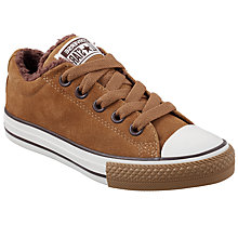 Buy Converse All Star Synthetic Leather Shoes, Sand Online at johnlewis.com