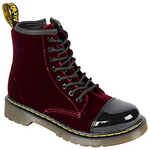 Buy Dr Martens Pooch Lace-Up Boots, Dark Red Online at johnlewis.com