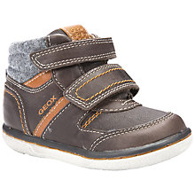 Buy Geox Flick Boy Rip-Tape Boots, Coffee Online at johnlewis.com