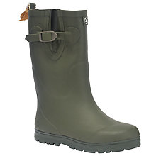 Buy Aigle Woodypop Faux Fur Wellington Boots, Khaki Online at johnlewis.com