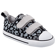 Buy Converse CTAS Animal Print Rip Tape Shoes, Black/White Online at johnlewis.com
